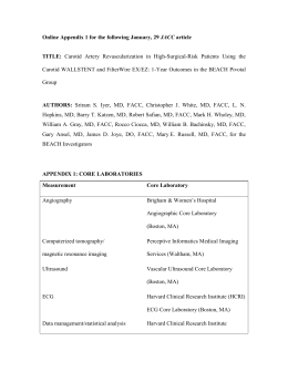 appendix 1: core laboratories