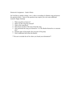 Homework Assignment – Grade 6 Music