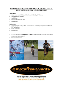 DESFORD ADULT AND JUNIOR TRIATHLON
