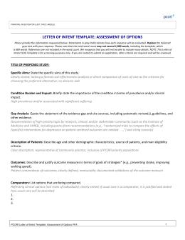 LOI template for the Pragmatic Studies