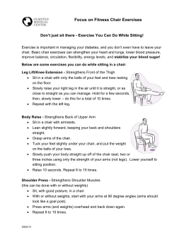 Instruction Sheet - Focus on Fitness Chair Exercises