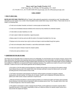 Email Consent Form - Mayer and Cope Family Practice