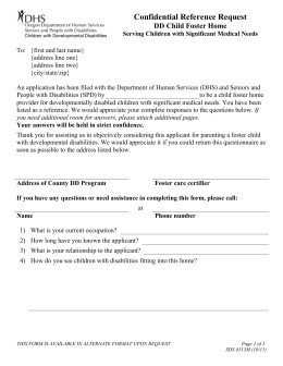 Child Foster Home - Oregon DHS Applications home