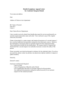 Appeal Letter Assistant Surgeon