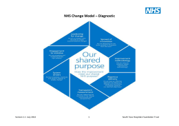 NHS Change Model diagnostic Tool - South