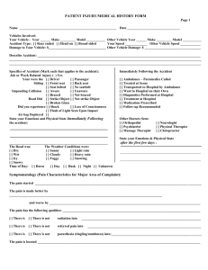 PATIENT INJURY/MEDICAL HISTORY FORM