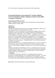Nosocomial Infections in the Surgical ICU in King Abdulaziz