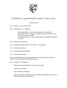 JUNIOR LEADERSHIP NIGHT ONE
