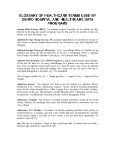 GLOSSARY OF HEALTHCARE TERMS AS USED BY OSHPD`s