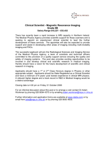 Clinical Scientist Grade 15 – 23 MRI Imaging