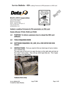 Subject: Loading Firmware & PID parameter on MEI card