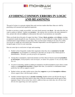 Avoiding Common Errors In Logic & Reasoning