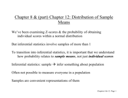 DOC Chapter 7: Distribution of Sample Means
