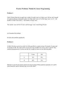 Practice Problems: Module B, Linear Programming
