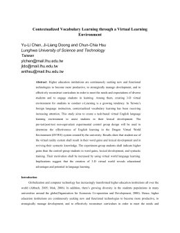 Contextualized Vocabulary Learning through a Virtual Learning