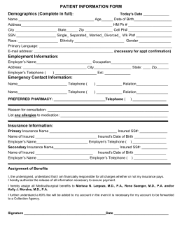 MetLife Statement of Health Form - The University of North Carolina