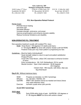 PCL Non-Operative - Michigan Orthopaedic Institute