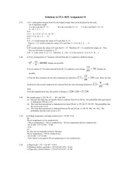 Solutions to STA 4032 Assignment #1