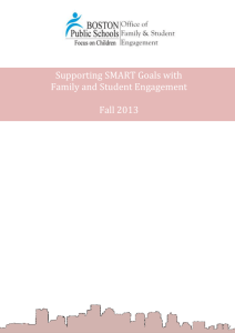 Supporting SMART goals with Family and Student Engagement