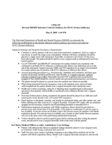 DHMH Infection Control Guidance for H1N1