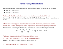 Normal Family of Distributions