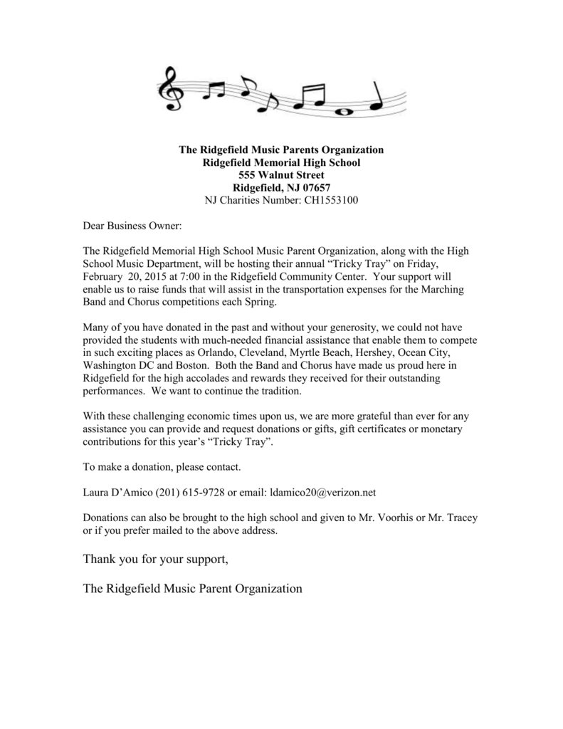 The Ridgefield Music Parents Organization