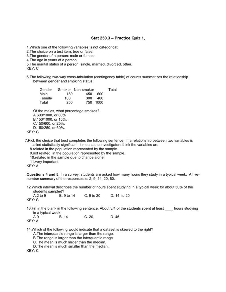 Mind On Statistics Test Bank