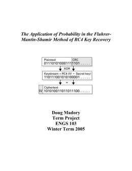 The Application of Probability in the Fluhrer-Mantin