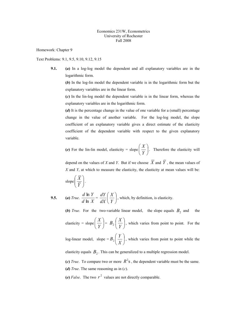 Economics 231w Econometrics