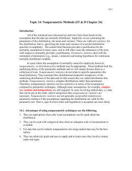 Topic 14: Nonparametric Methods (ST & D Chapter