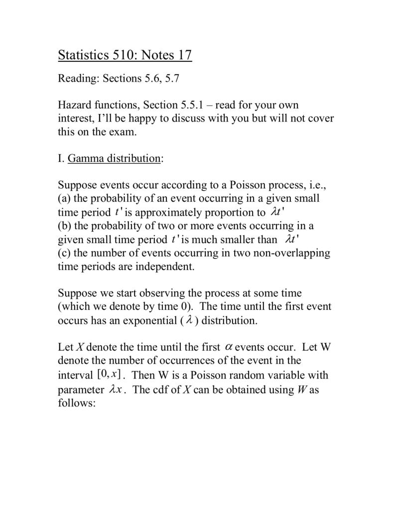 Notes 17 - Wharton Statistics Department