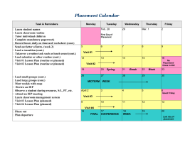 Placement Calendar