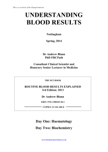 Blood Results Flyer