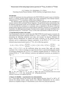 Measurements of Angular and Energy Distributions of Prompt