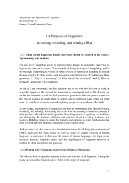 Assumptions and Approaches of Linguistics