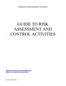 GUIDE TO RISK ASSESSMENT AND CONTROL ACTIVITIES
