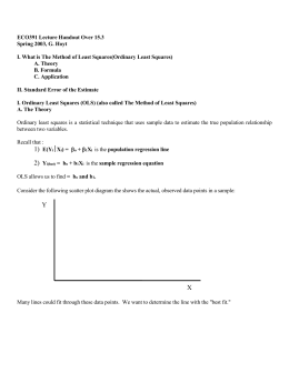 Chapter 2: Ordinary Least Squares