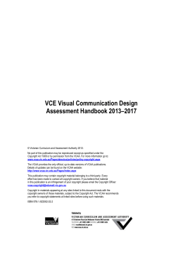 VCE Visual Communication Design Assessment Handbook 2013