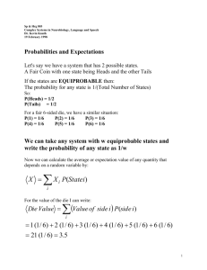 Probabilities and Expectations