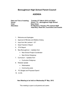 BHSPC Agenda 27th March 2012