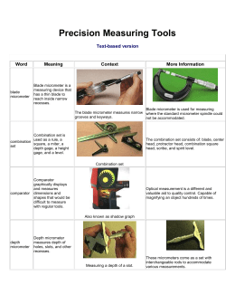Precision Measuring Tools