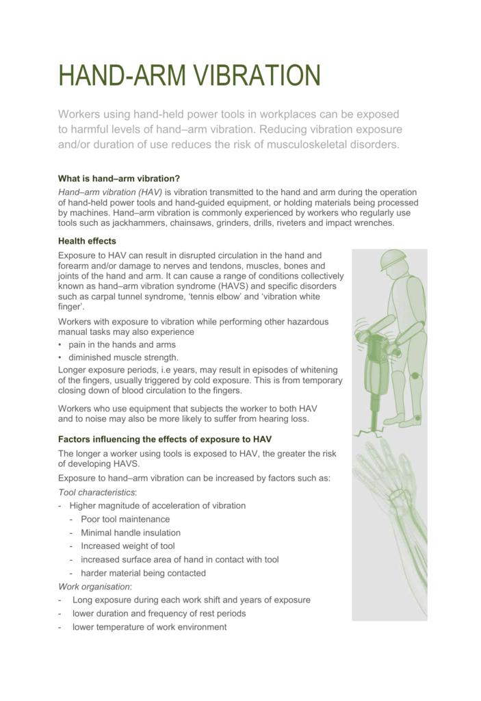 Hand-arm vibration fact sheet