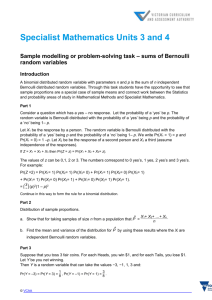sums of Bernoulli random variables