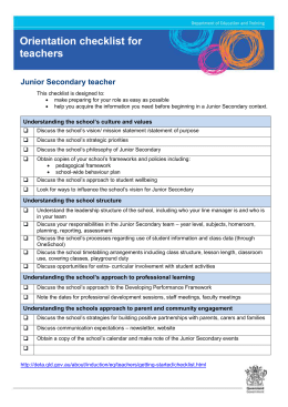 Junior Secondary Teacher