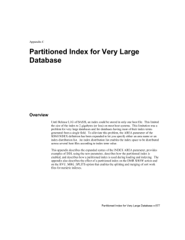 DLM Appendix C: Partitioned Index for Very Large Database