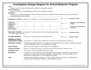 IDD for Animal Behavior
