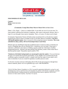 Press Release for Community Drive for Patient