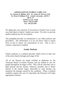 New Patient Pamphlet - Associates in Family Care