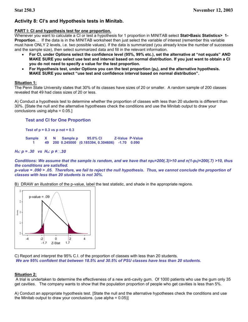 Lab Activity 11 More On Confidence Intervals And Hypothesis [ 1024 x 791 Pixel ]