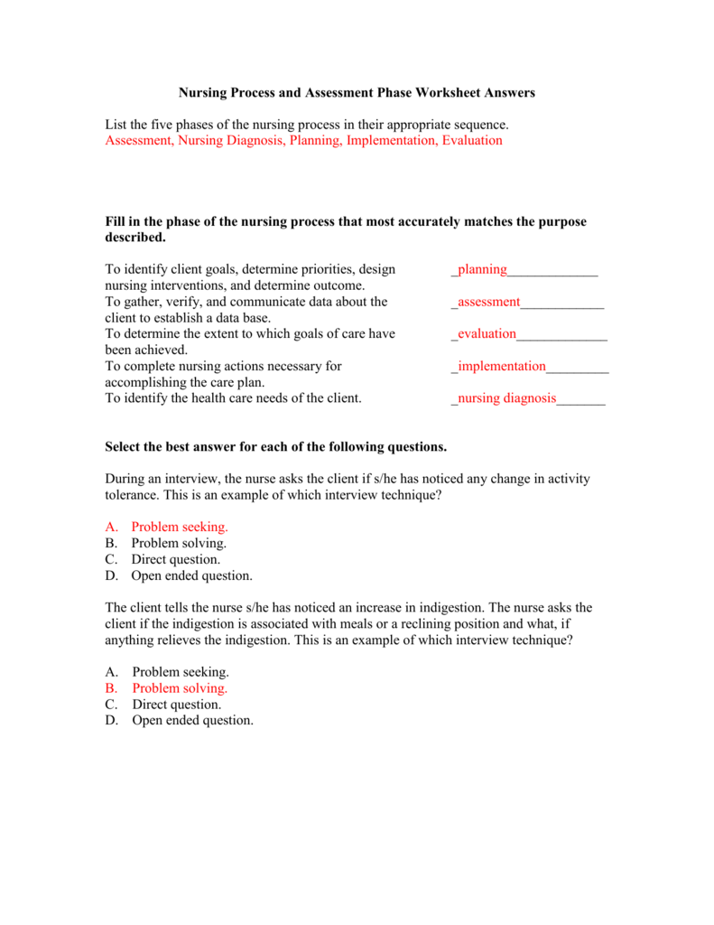 nursing data worksheet sample
